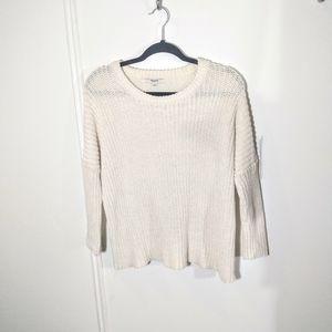 Madewell Cream Cotton Sweater